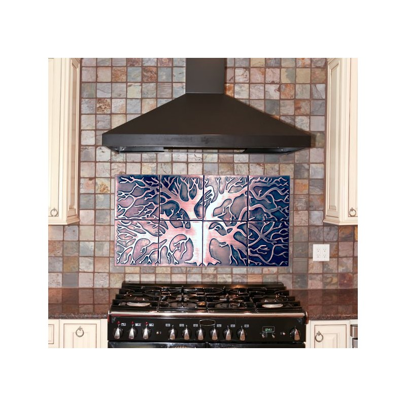 Tree Of Life Set Of 8 Backsplash Tiles My Copper Craft