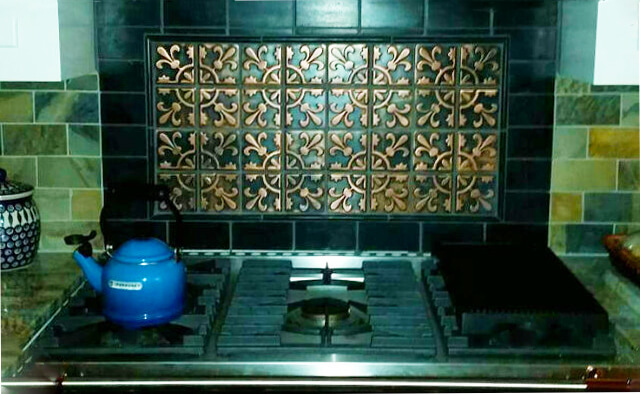 Gothic metal tiles from our Historic Tiles Collection